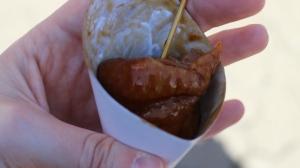 La mia porzione di pollo teriyaki. Notare la pelle, morbidissima, si scioglie in bocca
